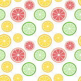 Colorful sliced lemon orange and lime seamless pattern background illustration Royalty Free Stock Photo