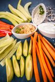 Colorful slices of raw vegetables Royalty Free Stock Photo
