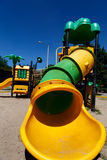 Colorful slide in a playground for children Royalty Free Stock Photos