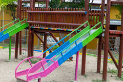Colorful slide in a playground for children Royalty Free Stock Images