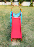 Colorful slider in playground. Colorful slider in children playground Stock Images