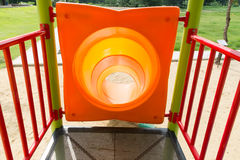 Colorful slider tunnel Stock Photos