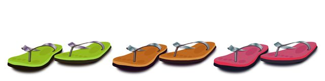 Colorful slippers/chappals  Stock Images