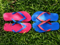 Colorful Slippers or Flip Flops Royalty Free Stock Images