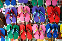 Colorful slippers Stock Photo