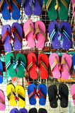 Colorful slippers Stock Images