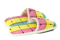 Colorful slippers isolate Royalty Free Stock Photos