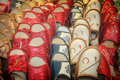 Colorful slippers for sale Stock Images
