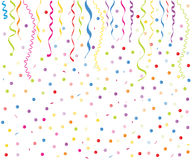 Colorful smal balloons, confetti and ribbon vector Stock Image