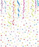 Colorful small ballons and confetti background Royalty Free Stock Photography