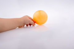 Colorful small Balloon in child hand Royalty Free Stock Photos