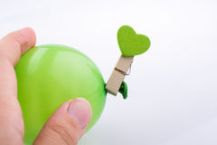 Colorful small Balloon in child hand Royalty Free Stock Photography