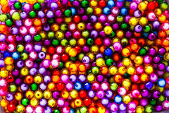 Colorful  small beads  for background. Royalty Free Stock Photos