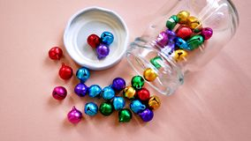 Colorful Small Bells Stock Image