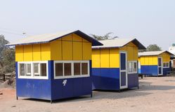 Colorful small cabins Stock Photography