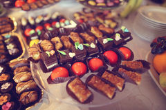 Colorful small cakes Royalty Free Stock Image