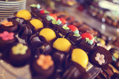 Colorful small cakes Stock Photos