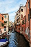 Colorful Canal in Venice, Italy. stock image