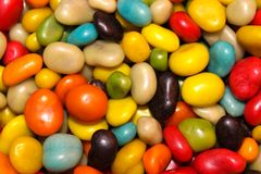 Colorful small candies-pebbles Royalty Free Stock Images