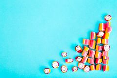 Colorful small candy royalty free stock photo