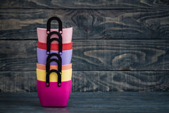 Colorful Small Decorative Plastic Bags with handle Stock Photography