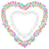 Colorful small heart in big heart on white transparent background. Love, wedding, valentine, mother day concepts. Vector illustration. Use as greeting / Royalty Free Stock Images