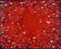 Colorful small hearts Stock Image