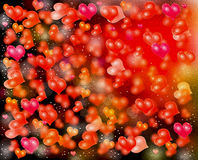 Colorful small hearts Stock Photography