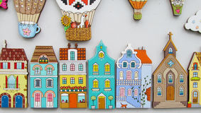 Colorful small house magnets Stock Photo