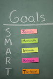 Colorful Smart Goals stock photography