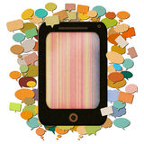Colorful smartphone paper craft. Stock Photo