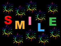 Colorful Smile Represents Happiness Colors And Jubilant Royalty Free Stock Photography