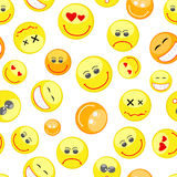 Colorful smiles seamless pattern Stock Photography