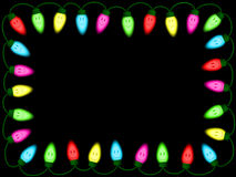 Colorful smiley christmas/party lights border Stock Images