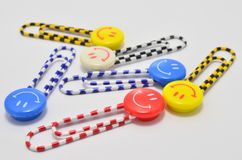 Colorful Smiley Paperclips Royalty Free Stock Photography