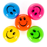Colorful smileys Royalty Free Stock Photo