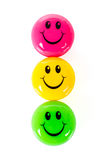 Colorful smileys Stock Image