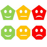 Colorful smileys Royalty Free Stock Image