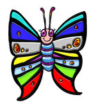 Colorful smiling butterfly Stock Photo