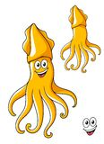 Colorful smiling cartoon squid Stock Images
