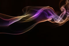 Colorful of Smoke. Royalty Free Stock Photo