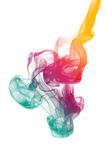 Colorful smoke. Colorful Rainbow Smoke isolated on white background royalty free stock photo