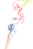 Colorful smoke. An abstract of colorful smoke on white background royalty free stock image