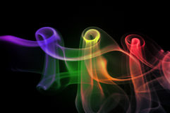 Colorful smoke abstract Stock Photography