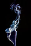 Colorful smoke abstract on black Royalty Free Stock Photo