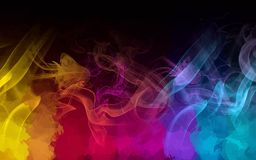 Colorful smoke background. Vector version royalty free illustration