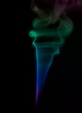 Colorful Smoke on Black Royalty Free Stock Image