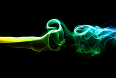 Colorful smoke on black Royalty Free Stock Photo