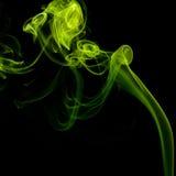 Colorful smoke on black background Royalty Free Stock Photography