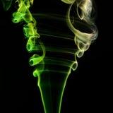 Colorful smoke on black background Stock Image